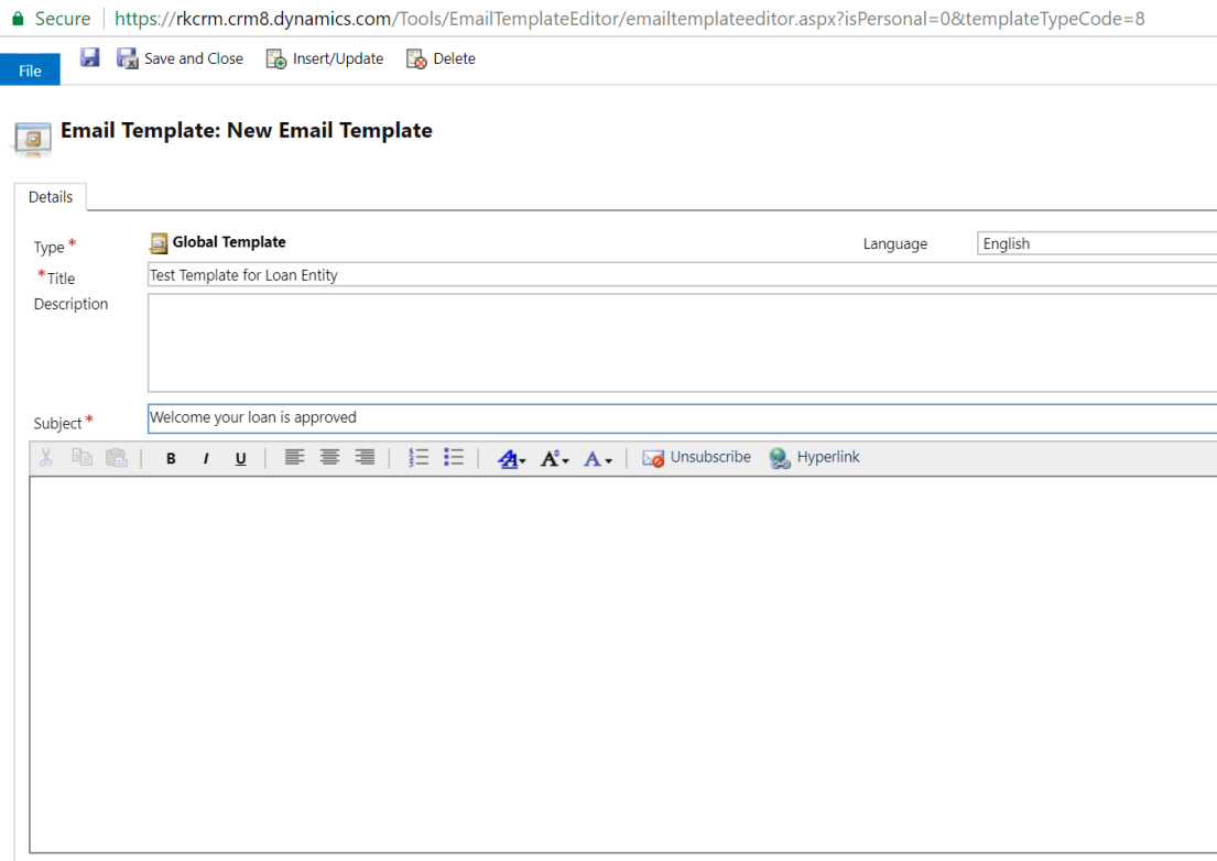 Insert Dynamic Values From Custom Entities In An Email Template - Personalized email templates