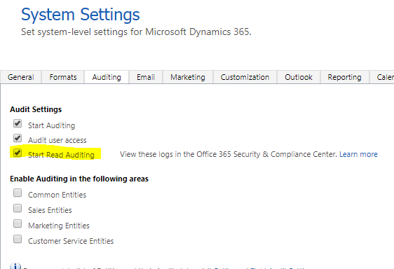 """Enable """"Read"""" Auditing In Dynamics CRM 365 - Microsoft Dynamics CRM"""